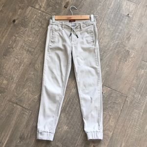 7 for all mankind skinny joggers in khaki size 10